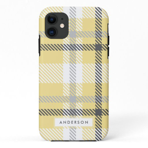 Abstract modern plaid iPhone 11 case