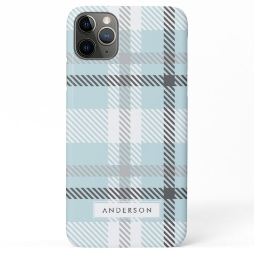 Abstract modern plaid iPhone 11 pro max case