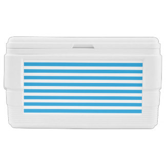 Abstract Modern Simple Blue Stripe Design Chest Cooler
