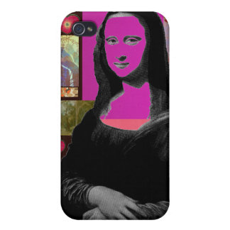 Abstract Mona Lisa iPhone 4/4S Covers