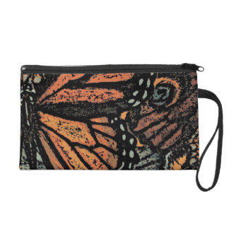 Abstract Monarch Butterfly Wristlet
