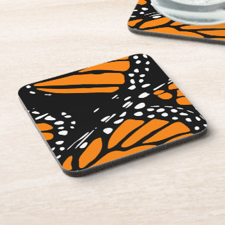 Abstract Monarch Butterfly Design Coaster