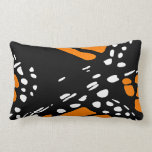 Abstract Monarch Butterfly Design Pillow