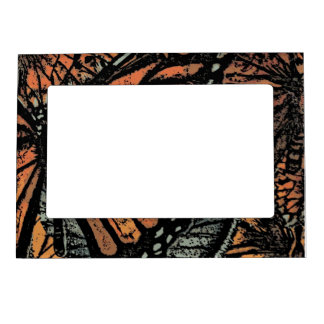 Abstract Monarch Butterfly Magnetic Frame