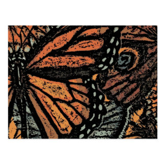 Abstract Monarch Butterfly Postcard