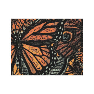Abstract Monarch Butterfly Stretched Canvas Print