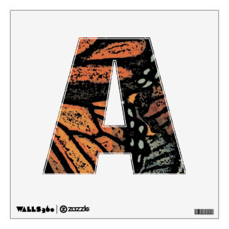 Abstract Monarch Butterfly Wall Graphics