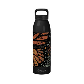 Abstract Monarch Butterfly Reusable Water Bottles