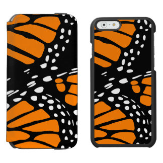 Abstract Monarch Butterfly Wing Design iPhone 6/6s Wallet Case