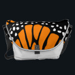 "Abstract Monarch Butterfly Wing Design Messenger Bag<br><div class=""desc"">The shoulderbag shows an abstract Monarch Butterfly wing design. The pattern design is available for all of Zazzle products. If it is not yet available or you have an inquiry about a customized design use the contact button below. More details about available design services are on www.KBMD3signs.com.</div>"