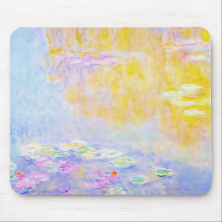abstract, monet water lilies 7 mouse pad