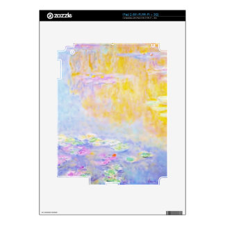 abstract, monet water lilies 7 iPad 2 decals