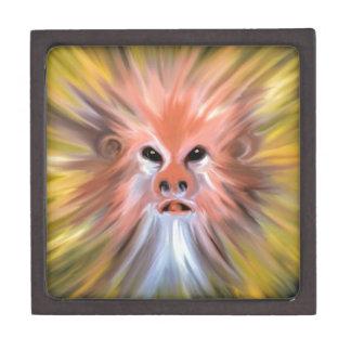 Abstract monkey painting keepsake box
