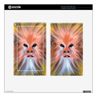 Abstract monkey painting kindle fire skins