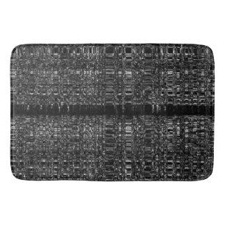 Abstract mono chain pattern bath mat