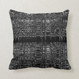 Abstract mono chain pattern pillow