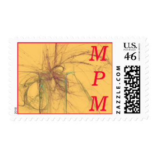 Abstract Monogram Stamps