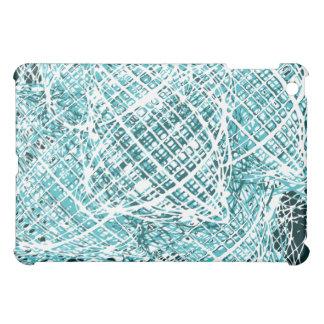 Abstract Monotone turquoise iPad Mini Cover
