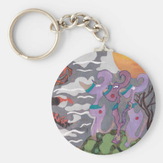 Abstract Monsters Keychain