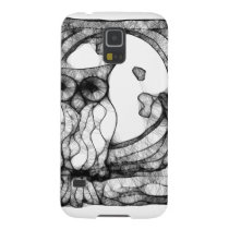 Abstract moody owl galaxy s5 cover
