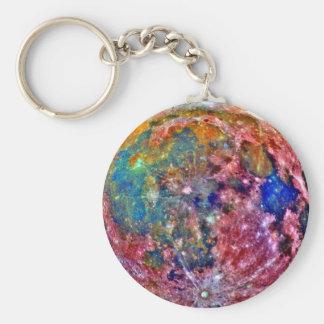 Abstract Moon Keychain