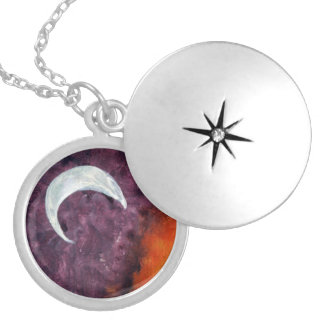 Abstract - moon custom necklace