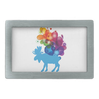 Abstract Moose Belt Buckle