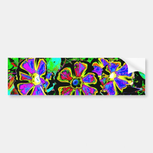 Abstract Morning Glories Bumper Sticker