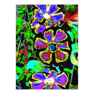 Abstract Morning Glories 5.5x7.5 Paper Invitation Card