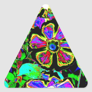 Abstract Morning Glories Triangle Sticker