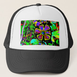 Abstract Morning Glories Trucker Hat