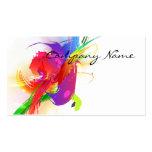 Abstract Morning Glory & Lorikeet Paint Splatters Business Card Templates