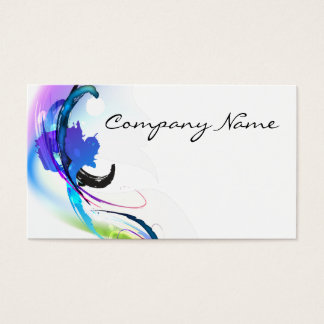 Abstract Morning Glory Paint Splatters Business Card