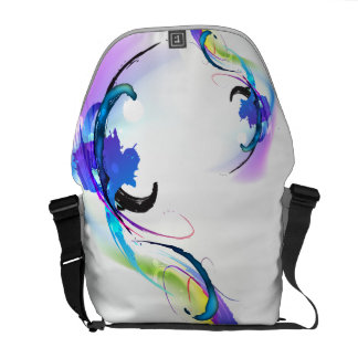 Abstract Morning Glory Paint Splatters Courier Bag