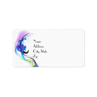 Abstract Morning Glory Paint Splatters Custom Address Label