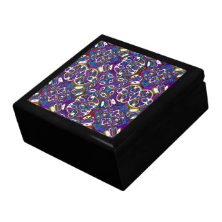Abstract Moroccan Lacquered Wood Gift Box