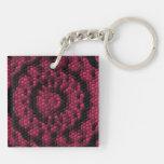 Abstract mosaic acrylic key chain