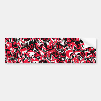 Abstract Mosaic Bumper Sticker