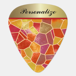 Abstract Mosaic Colorful Design | Personalize Guitar Pick