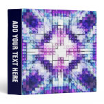 Abstract Mosaic Cubes 3 Ring Binder