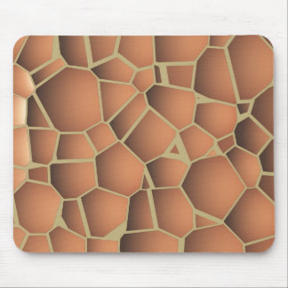 Abstract mosaic floor-tiles terracotta orange mouse pads