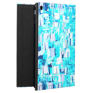 Abstract mosaic fragments in blue iPad air case
