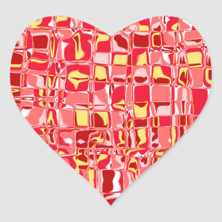 Abstract Mosaic Heart Sticker