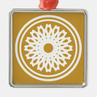 abstract mosaic metal ornament