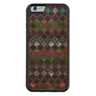 Abstract Mosaic Pattern #15 Carved Cherry iPhone 6 Bumper Case