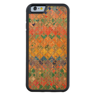 Abstract Mosaic Pattern #2 Carved Cherry iPhone 6 Bumper Case