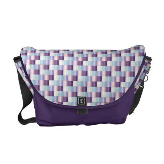 Abstract Mosaic Pattern Purple Lavender Texture Courier Bag