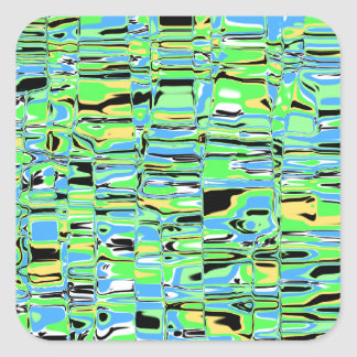Abstract Mosaic Square Sticker