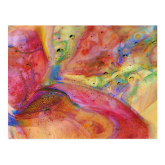 Abstract Mosaic Stationary Boro Glass Postcards