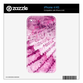 Abstract mosaic waves decals for iPhone 4